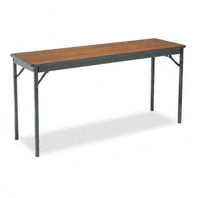 Barricks Office Folding Table (Barricks - Special Size Folding Table Rectangular 60W X 18D X 30H Walnut/Black