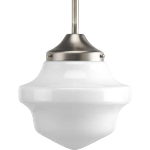 Progress Lighting P5196-09 Schoolhouse Collection 1-Light Mini-Pendant, Brushed Nickel