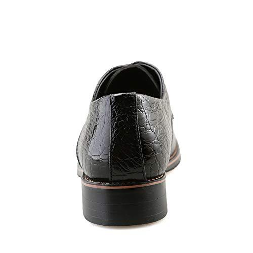 Nuove Coccodrillo Men's Scarpe Punta a da Cinturini Nero Casual Scarpe Business di con Cricket Britannici Oxford qRRPwIg