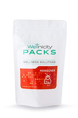 Hangover Solution Pack - Supplies nutrients to Assist in Liver detoxification and re-Hydration to Help Reduce The Hangover Symptoms associated with Alcohol Consumption.