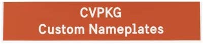 1 Text Line, Orange Custom Laser Engraved Pelican Rifle Case Nameplate