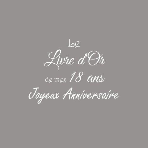 Le Livre d'Or de mes 18 ans Joyeux Anniversaire ..........: Livre d'Or Anniversaire 18 ans 21 x 21 cm Accessoires decoration idee cadeau 18 ans ... famille Couverture Gris (French Edition)