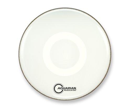 Aquarian Drumheads RF16WH Regulator White 16-inch Bass Drum Head, gloss white ()