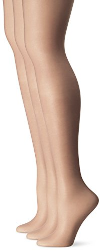 L'eggs Women's Silken 3 Pack Ultra Sheer Run Resist Panty Hose, Sun Beige, B ()