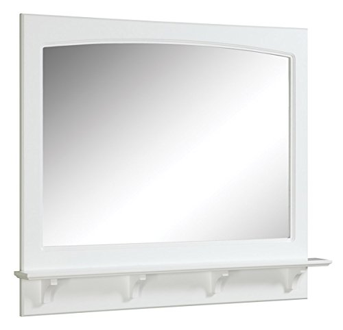 Design House 539940 38x31 Concord Mirror with Shelf, White
