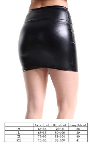 Fashion Femme Mini Jupe Femmes Cuir de sécurité Clubwear Wetlook de Fête Costume de Club