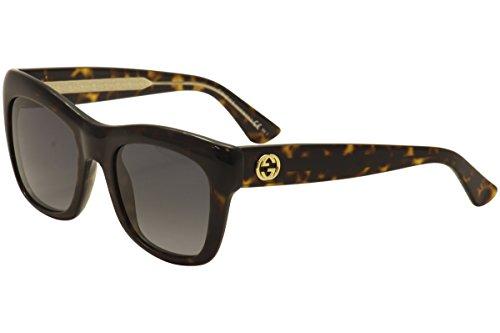 Sunglasses Gucci 3827/S 0KCL Dark Havana Havana Crystal / HD gray gradient - Gucci Sunglasses Havana Dark