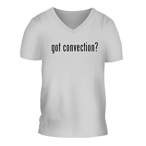 got convection? - A Nice Men's Short Sleeve V-Neck T-Shirt Shirt, White, Large (Recipes Convection Oven Oster)
