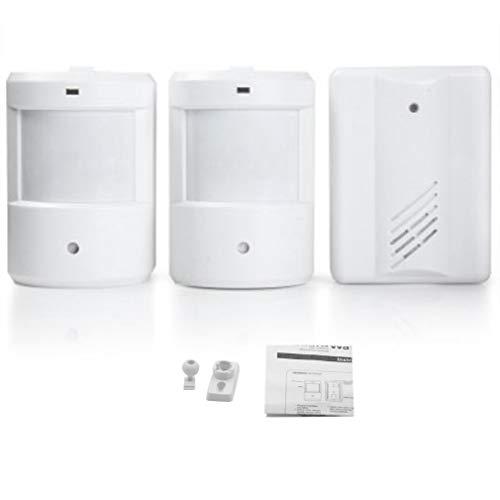 Wireless Doorbell Set 2 Transmitter + 1 Receivers Kit Infrared Door Bell Kit by CLKjdz