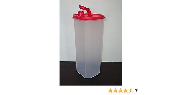 Tupperware slim line pitcher 2L  flip top pour seal clear w// Guava