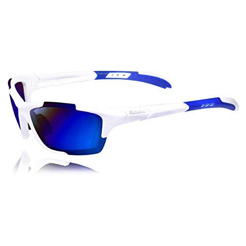 Hulislem Blade Sport Polarized Sunglasses, Revo Blue - White