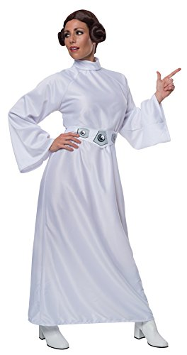 UHC Women's Star Wars Princess Leia Organa Outfit w/ Wig Halloween Fancy Costume, STD (8-12)