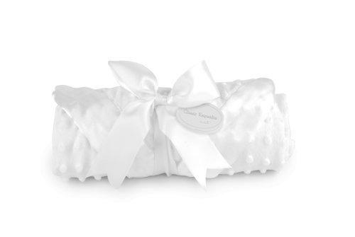Mud Pie Baby Classic Keepsakes White Receiving Blanket
