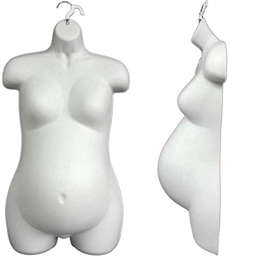 (Female Maternity Form, Hollow Back, Pregnant Female Mannequin Torso,)
