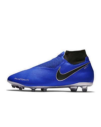 Nike Unisex Phantom VSN Pro DF FG Soccer Shoes (10.5 M US Mens/12 M US Womens, Racer Blue/Black)