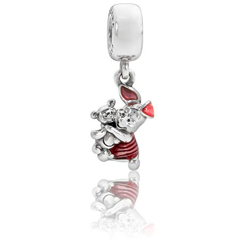 - Pandora Sterling Silver Disney's Piglet Dangle Charm 792134EN117