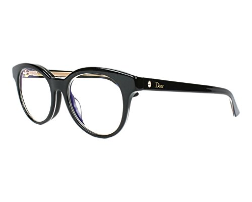 Optical frame Christian Dior Acetate Shiny Black - Transparent Crystal (MONTAIGNE 5F (Christian Dior Optical Frames)