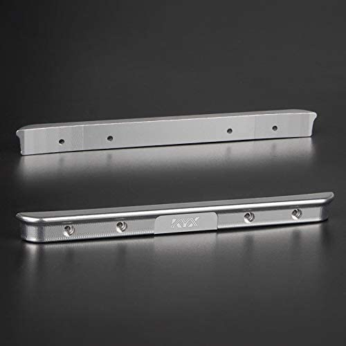 KYX Racing CNC Machined Aluminum Alloy Rear Bumper Silver Upgrades Parts Accessories for 1//24th Scale RC Crawler Car Axial SCX24 AXI00001 C10