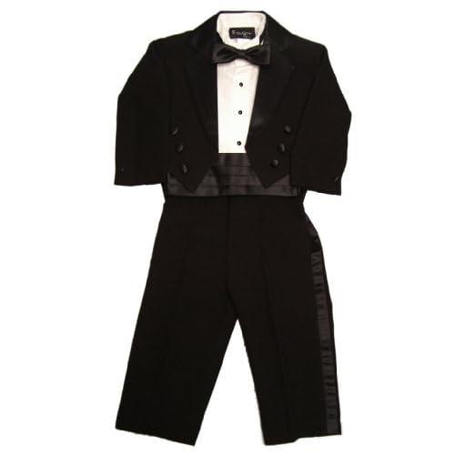 4e8f4ddc1 Fouger Boy's Black Tuxedo Tails Formal Set [5WefJ0909414] - $30.99