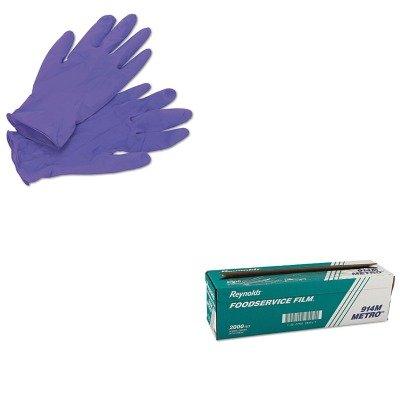 (KITKIM55082RFP914M - Value Kit - Reynolds Metro Light-Duty PVC Film Roll w/Cutter Box (RFP914M) and KIMBERLY CLARK PURPLE NITRILE Exam Gloves (KIM55082))
