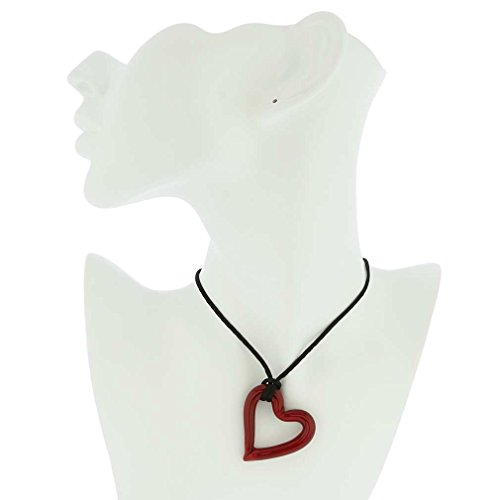 GlassOfVenice Murano Glass Red Heart Necklace