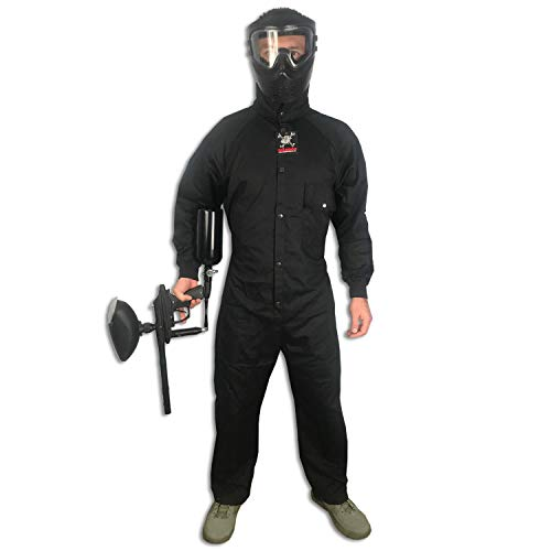 MAddog Tactical Paintball Rip Stop Coverall Jumpsuit - Black - Small