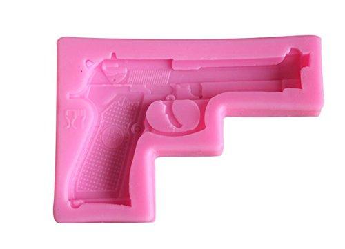 Gun Pistol 3D Soft Silicone Mold Gun Clay Gum Cake Decorating Fondant Sugar Craft Molds Candy Chocolate Mold