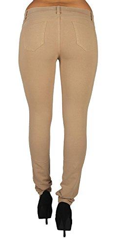 U-Turn Jeans Women's Basic Skinny Leg Stretch Cotton Jeggings