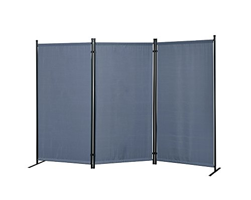 "Proman Products FS17065 Galaxy Outdoor/Indoor Room Divider (3-Panel), 102"" W X 16"" D x 71"" H, Gray"