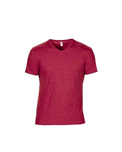 Anvil - Camiseta - para hombre Heather Red