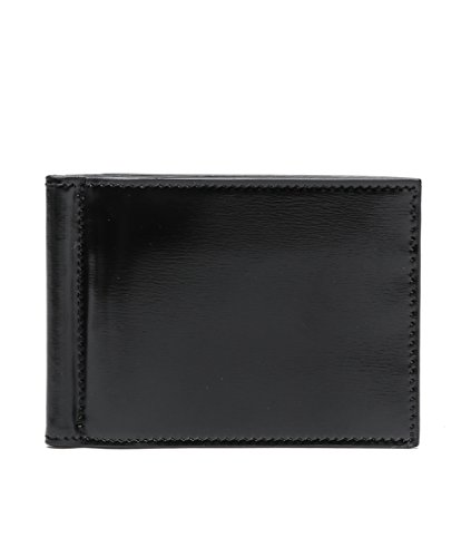 wiberlux-thom-browne-mens-real-leather-bi-fold-money-clip-wallet-one-size-black