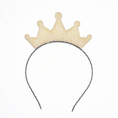 Gold Happy New Flowers of The Crown Hairbands Girls Headwear Children Headbands Hair Hoop Children Hair Accessories 1pcs - Braid Yellow Earrings