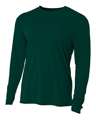 (Authentic Sports Shop Forrest Green Adult Small Long Sleeve Wicking Cool & Comfortable Shirt/Undershirt )