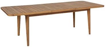 Greemotion Föhr Extensible Rectangular para extenderse Comedor marrón para jardín, terraza y balcón – Mesa de Madera de Acacia Maciza, 18.6 x 10.3 x 1.7 cm: Amazon.es: Jardín