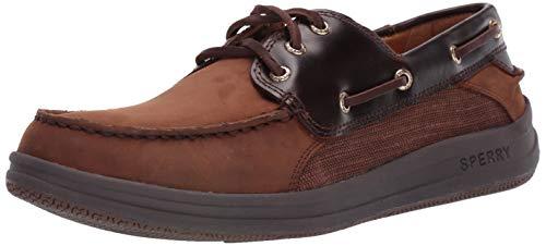 Boat Shoe Eye 3 - Sperry Men's Gold Gamefish 3-Eye Boat Shoe, Dark Brown, 8.5