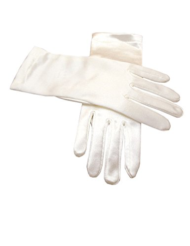 Beiqian Stretch Satin Gloves for Women Wrist Length Evening Party Formal Bridal Gloves (Ivory)
