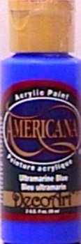 Americana Acrylic Paint 2oz-Ultramarine Blue - Transparent