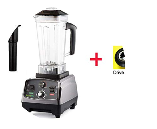 3Hp 2200W Heavy Duty Commercial Grade Automatic Timer Blender Mixer Juicer Fruit Food Processor Ice Smoothies 2L Jar,With Extra Driver,Poland,Eu Plug