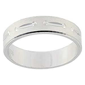 Aurora Women's Silver White Dubla Ring