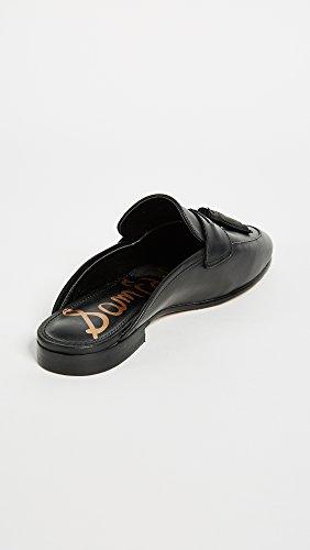Black Sam Paris Leather Slip Women's Loafer on Edelman YYBSU