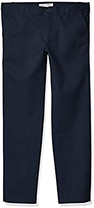 Amazon Essentials Girl's Flat Front Uniform Chino
