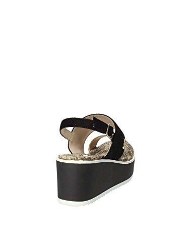 Sandalo 65870 Gaudi Donna Nero V83 Zeppa BgEnPpq