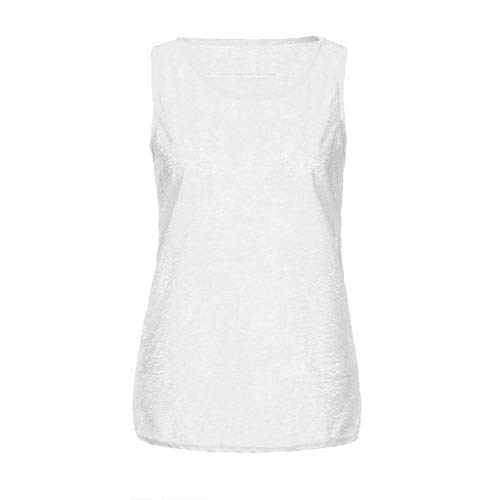 Fashion Blouses Tops, Women's Tops 2019 Sexy Women's Tunic Solid Hallow Out Halter top Tank Gym top Fitness White M
