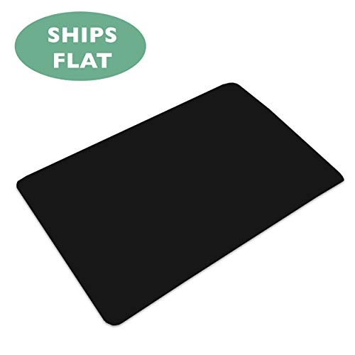 Office Chair Mat for Hard Floors 36 x 48 - Black Hardwood Mat for Desk Chairs - Ships Flat ()