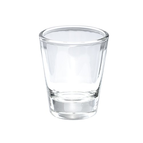 Thirsty Rhino Karan Round 15 oz Shot Glass with Heavy Base Clear Glass