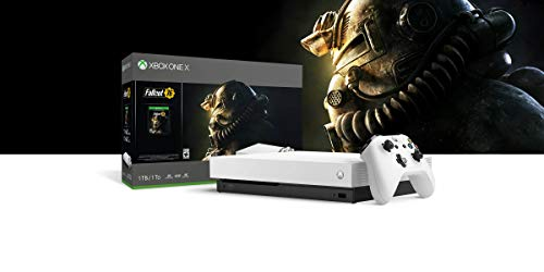 2019 Microsoft Xbox One X Robot White Special Edition 1TB Console (4K Ultra HD Blu-ray) With Wireless Controller And Fallout 76 Game Bundle (Best Xbox One Deals 2019)