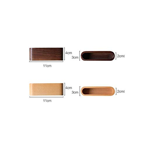 SYFO Black Walnut Wooden Card Base Business Card Holder Business Card Holder Business Creative Business Card Base, Two Optional (Color : Beech) ()
