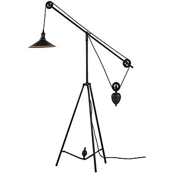 Zuo Modern 98235 Jasper Floor Lamp Antique Black Gold
