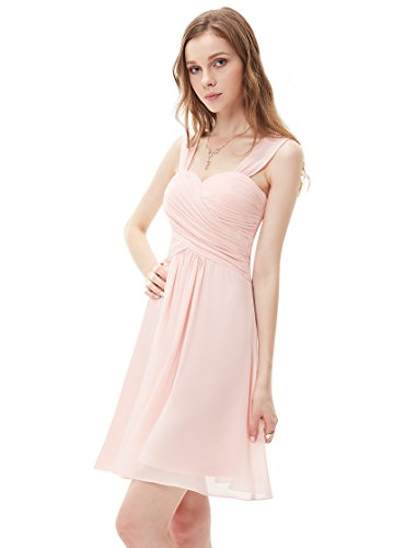 Ever Pretty Womens Sweetheart Neckline Short Semi Formal Bridesmaids Dress 6 US Pink