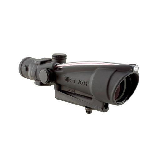 Advanced Gun Optical Acog Combat (Trijicon TA11C ACOG 3.5x35mm Dual Illuminatedx 40mm, Red Donut BAC Reticle (Calibrated for .308 (7.62mm)), black)